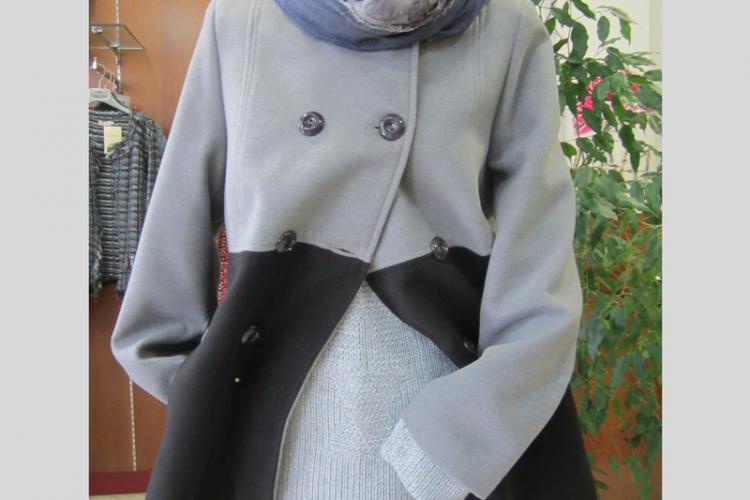 chaqueton mujer bicolor