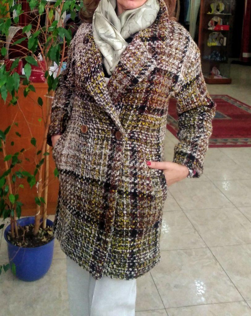chaqueton cuadros mujer Surkana