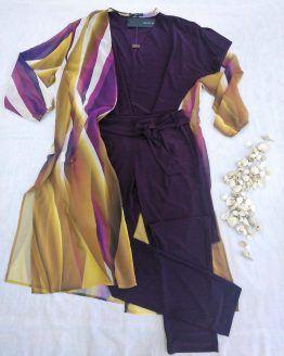 conjunto mujer Paz Torras con kimono