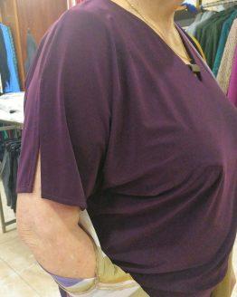 camiseta berenjena de Paz Torras