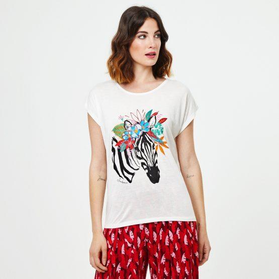 camiseta mujer surkana cebra