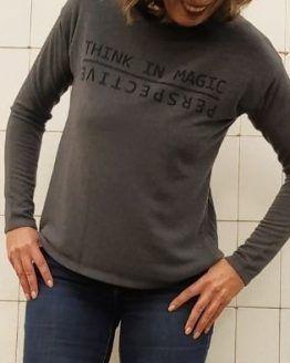 camiseta mujer gris