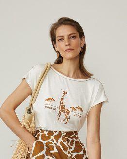 camiseta paz torras mujer cebra