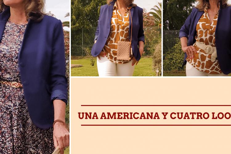 una americana y cuatro looks