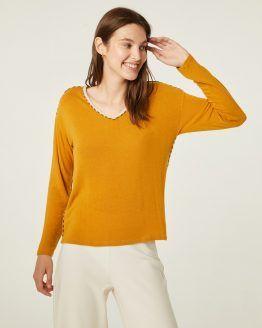 camiseta-mujer-Paz-Torras-mostaza