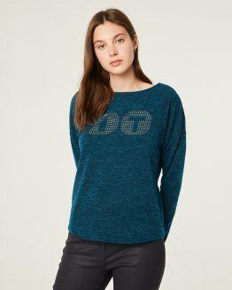 jersey mujer paz torras azul